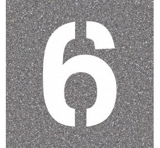 """Pochoir en bois du chiffre """"6"""""""
