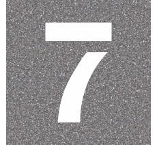 """Pochoir en bois du chiffre """"7"""""""