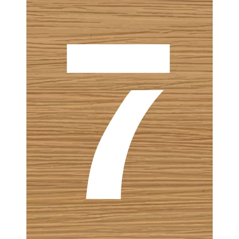 pochoir en bois du chiffre 7. Black Bedroom Furniture Sets. Home Design Ideas