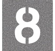 """Pochoir en bois du chiffre """"8"""""""