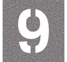 """Pochoir en bois du chiffre """"9"""""""