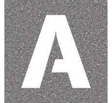 """Pochoir en bois de la lettre """"A"""""""