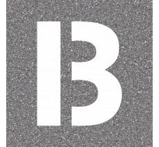 "Pochoir en bois de la lettre ""B"""