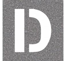 """Pochoir en bois de la lettre """"D"""""""