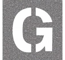 """Pochoir en bois de la lettre """"G"""""""