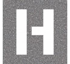 """Pochoir en bois de la lettre """"H"""""""