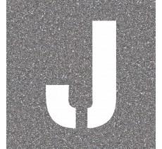 """Pochoir en bois de la lettre """"J"""""""