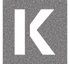 """Pochoir en bois de la lettre """"K"""""""