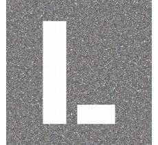 """Pochoir en bois de la lettre """"L"""""""