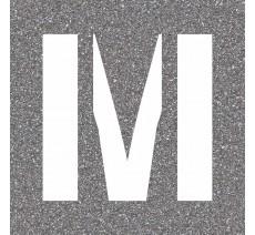 "Pochoir en bois (Isorel) de la lettre ""M"""