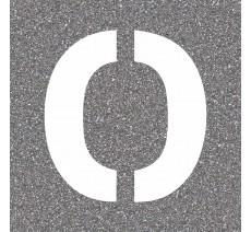 """Pochoir en bois (Isorel) de la lettre """"O"""""""