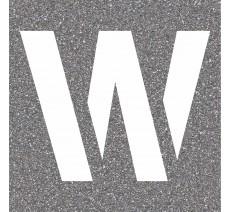 "Pochoir en bois de la lettre ""W"""