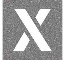 """Pochoir en bois de la lettre """"X"""""""