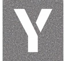 """Pochoir en bois de la lettre """"Y"""""""