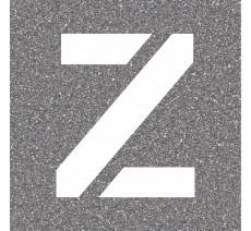 "Pochoir en bois de la lettre ""Z"""
