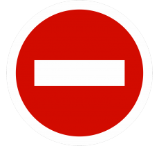 Plaque porte alu ou pvc picto rond sens interdit