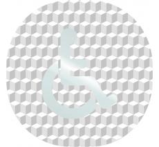 """Plaque porte plexi ,effet 3D """" Toilettes handicapés"""""""