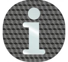 """Plaque porte plexi ,effet 3D """" Information"""""""