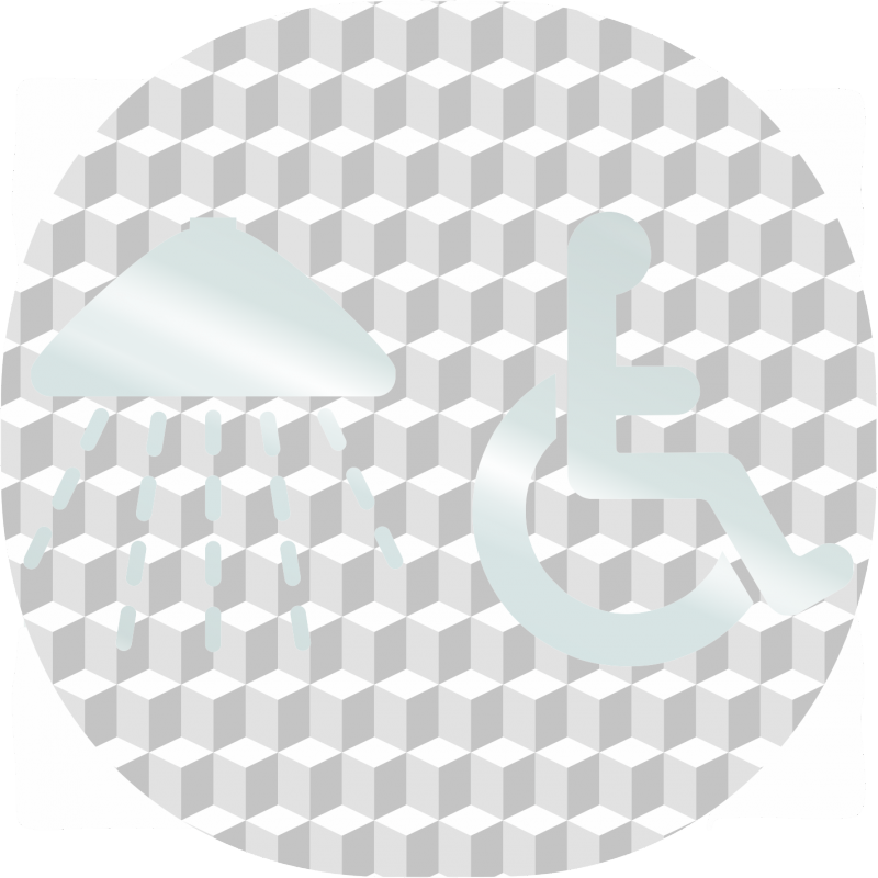Plaque porte plexi effet 3d douche handicap - Plaque plexiglas transparent ...
