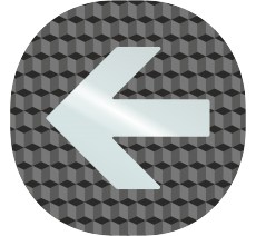 """Plaque porte plexi ,effet 3D """" Flèche"""" vers la gauche"""