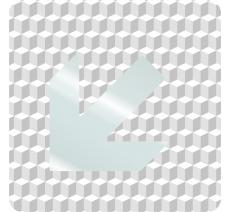 """Plaque porte plexi ,effet 3D """" Flèche"""" en bas vers la gauche"""