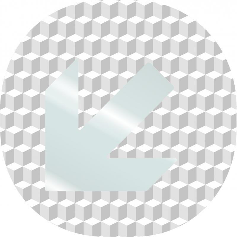 Plaque porte plexi effet 3d fl che en bas vers la gauche - Plaque plexiglas transparent ...