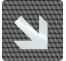 """Plaque porte plexi ,effet 3D """" Flèche"""" en bas vers la droite"""