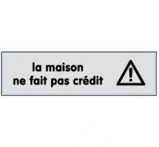 Plaque de porte plexi argent maison, pas crédit