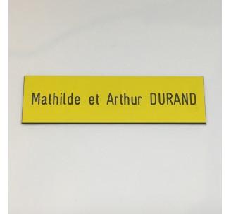 plaque sp ciale bo te aux lettres fond jaune texte grav blanc. Black Bedroom Furniture Sets. Home Design Ideas