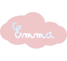 Plaque porte plexi rose pastel , avec prénom miroir
