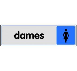 Plaque de porte plexi couleur Toilettes dame