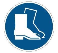 """Pictogramme """" Chaussures de sécurité obligatoires """" de marquage au sol"""