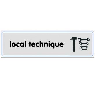 Plaque de porte plexi argent local technique