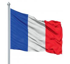 Le Pavillon Français livré prêt à hisser