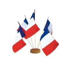 Les drapeaux de table Français sur tige métal avec lance