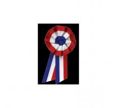 Cocardes tricolores avec 2 pans, diamètre 50mm et 100mm