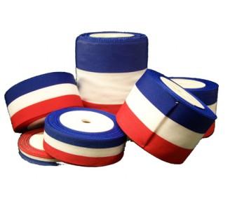 Ruban tricolore en polyester