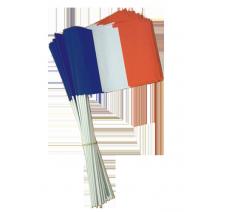 Les drapeaux à agiter en papier