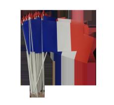 Les drapeaux à agiter , matière indéchirable