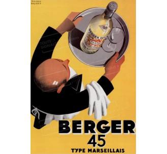 """Plaque publicité """"Berger 45"""""""