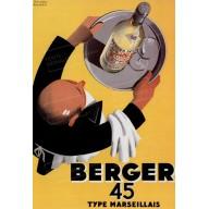 """Plaque publicité vintage  """"Berger 45"""""""