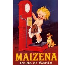 """Plaque publicité """"Maizena"""""""