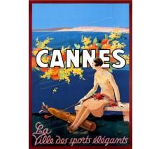 """Plaque publicité  """" Cannes Ville des sports élégants   """""""