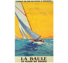 """Plaque publicité  """"  La Baule plage du soleil  """""""