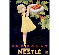 """Plaque publicité vintage """"Nestlé nid"""""""