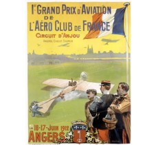 "Plaque publicité "" 1er grand prix aviation Anjou """