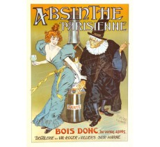 """Plaque publicité """" Absinthe parisienne """""""