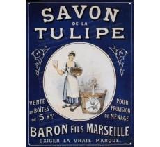 """Plaque publicité  """" Savon de la tulipe  """""""