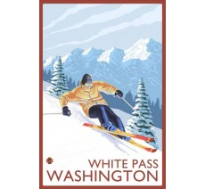 "Plaque publicité "" White pass Washington """