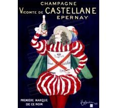 """Plaque publicité """" Champagne Vicomte de Castellane """""""